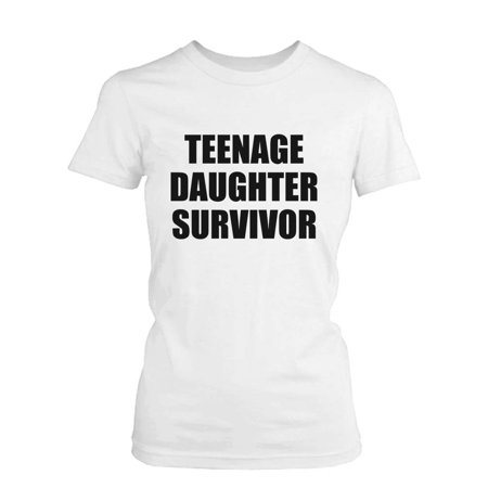 Teenage Daughter Survivor Graphic T-Shirt - Cute Mother's Day Gift Idea - Teenage Outfit Ideas Tumblr
