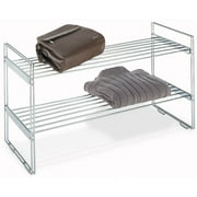 Whitmor Stackable Chrome Closet Shelves