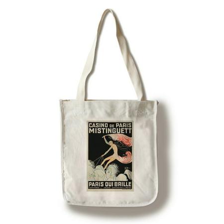 France - Casino de Paris - Mistinguett  Paris Qui Brille - (artist: Zig c. 1931) - Vintage Advertisement (100% Cotton Tote Bag - Reusable) (Brille 100 Uv Schutz)