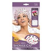 Qfitt Large Vinyl Shower Cap Dots
