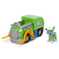PAW Patrol, Rockys Recycle Truck Vehicle with Collectible Figure, for Kids Aged 3 and Up