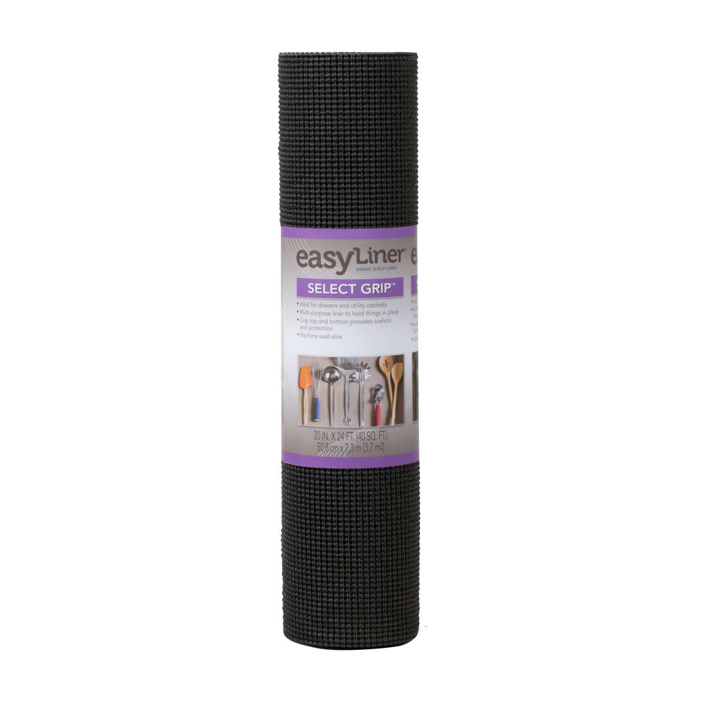 Select Grip Easy Liner Brand Shelf Liner - Black, 20 in. x 24 ft ...