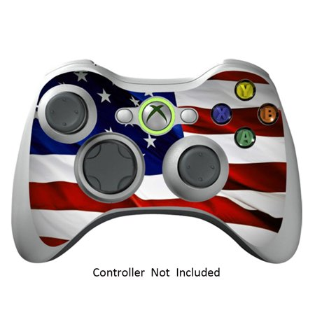 Skin Stickers for Xbox 360 Controller - Vinyl High Gloss Sticker for X360 Slim Wired Wireless Game Controllers - Protectors Stickers Controller Decal - Stars N Stripes (Xbox 360 Starwars Controller)