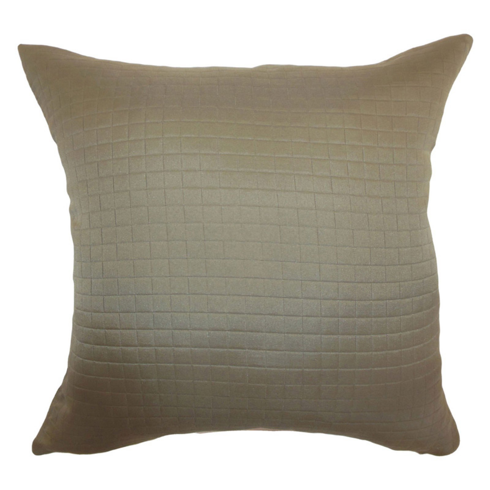 The Pillow Collection Maertisa Quilted Pillow - Espresso