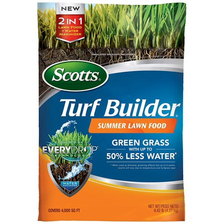 49021 Turf Builder 4,000 sq. ft. Summer Lawn Food, 9.42 lb, Green grass with up to 50% less water (when used as directed; greening effects last up to 6 weeks;.., By Scotts ()