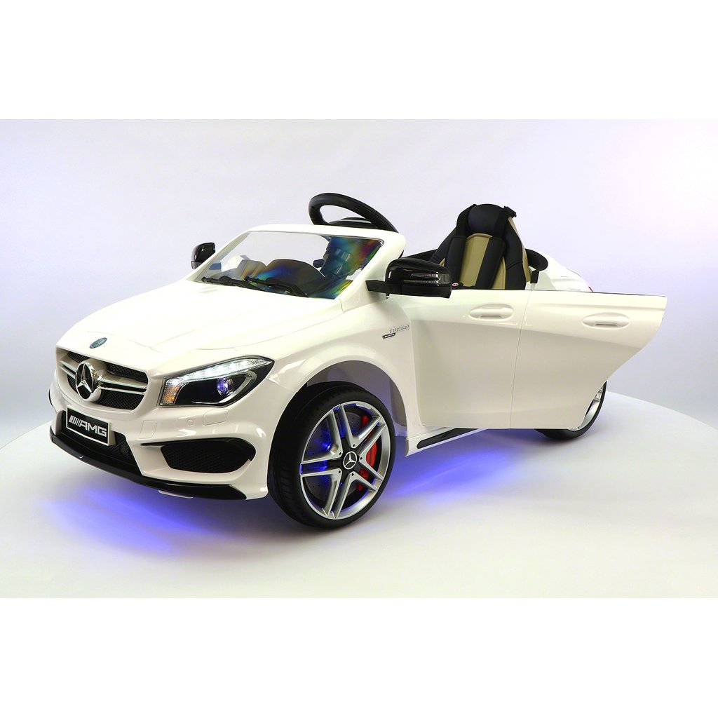 2018 Licensed Mercedes CLA45 AMG 12V Electric Power Kids Ride On Vehicles Toys Cars w/ Dining Table and Remote Control CHERRY RED METALLIC