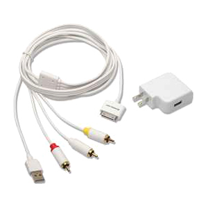 Iogear GIPODAVC6 Composite A/V Cable Adapter - Composite - 6 ft - 1 x Proprietary Connector - 1 x USB, 1 x Video, 2 x Audio - Shielding - White
