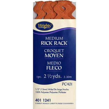 Wrights Medium Carrot Rick Rack, 2.5 - Medium Printed Rick Rack