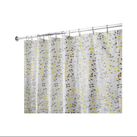 Interdesign Vine Shower Curtain Gray And Yellow