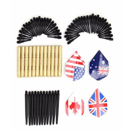 12PCS 14g Soft Tip Darts with 36PCS Extra Dart Tips for Electronic Dartboard Color:Combination