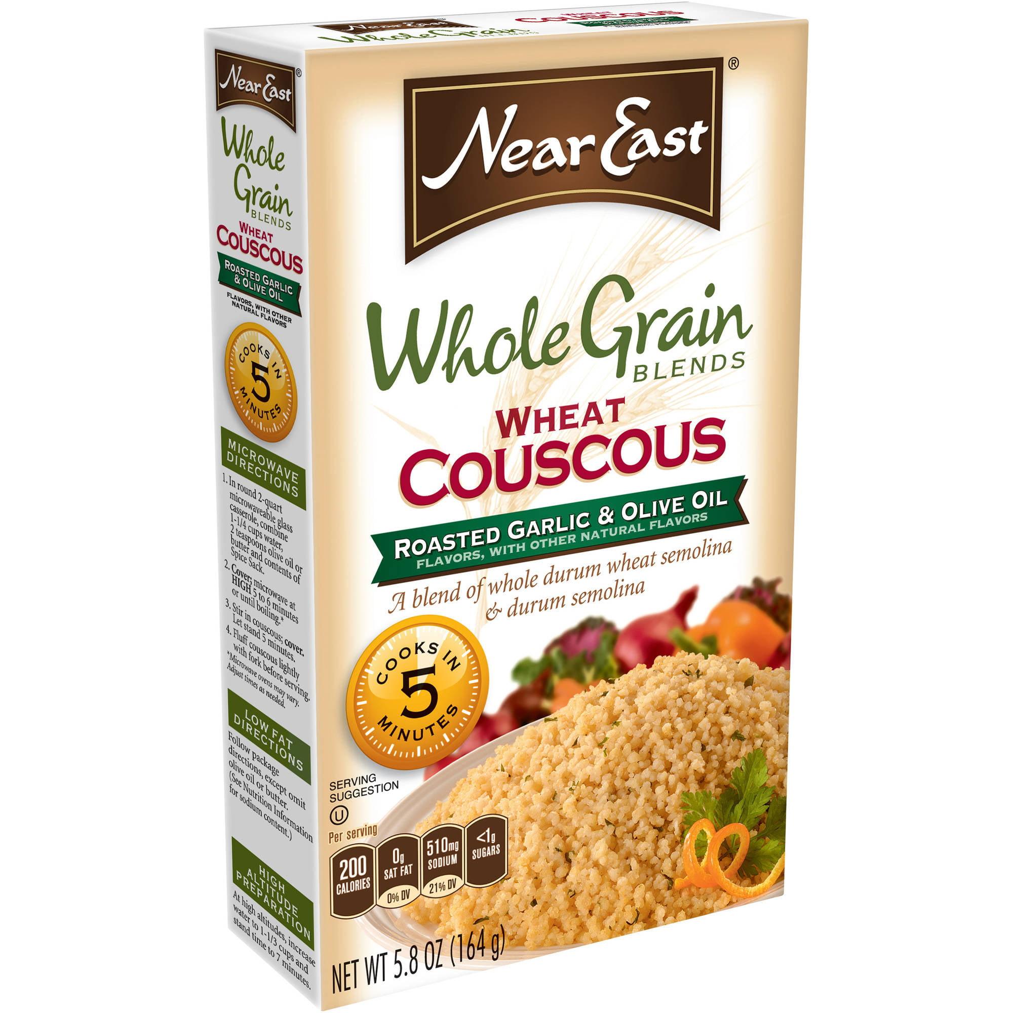 Near East Whole Grain Blends Roasted Garlic & Olive Oil Wheat Couscous, 5.8 oz