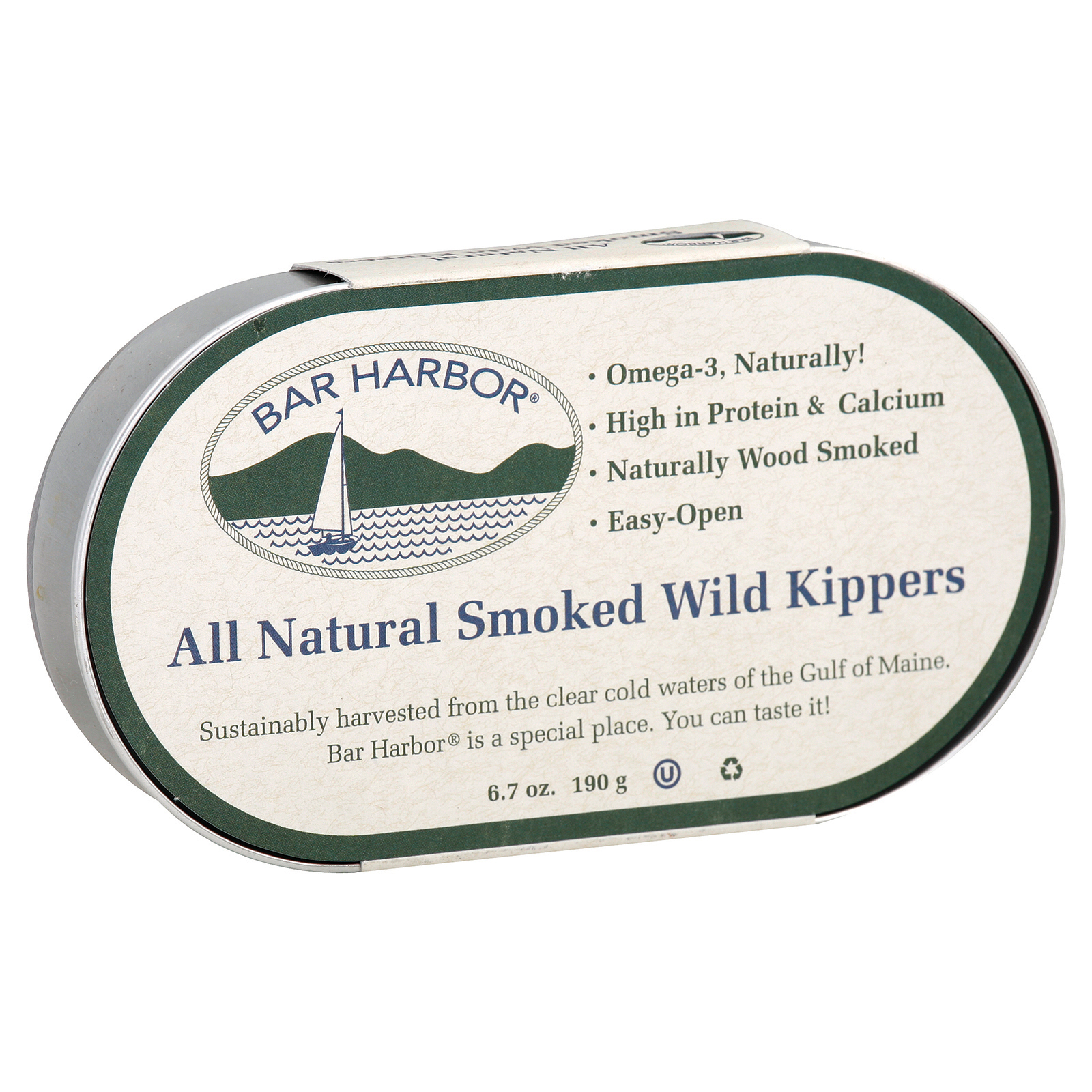 Bar Harbor Smoked Wild Kippers - Case of 12 - 6.7 oz.