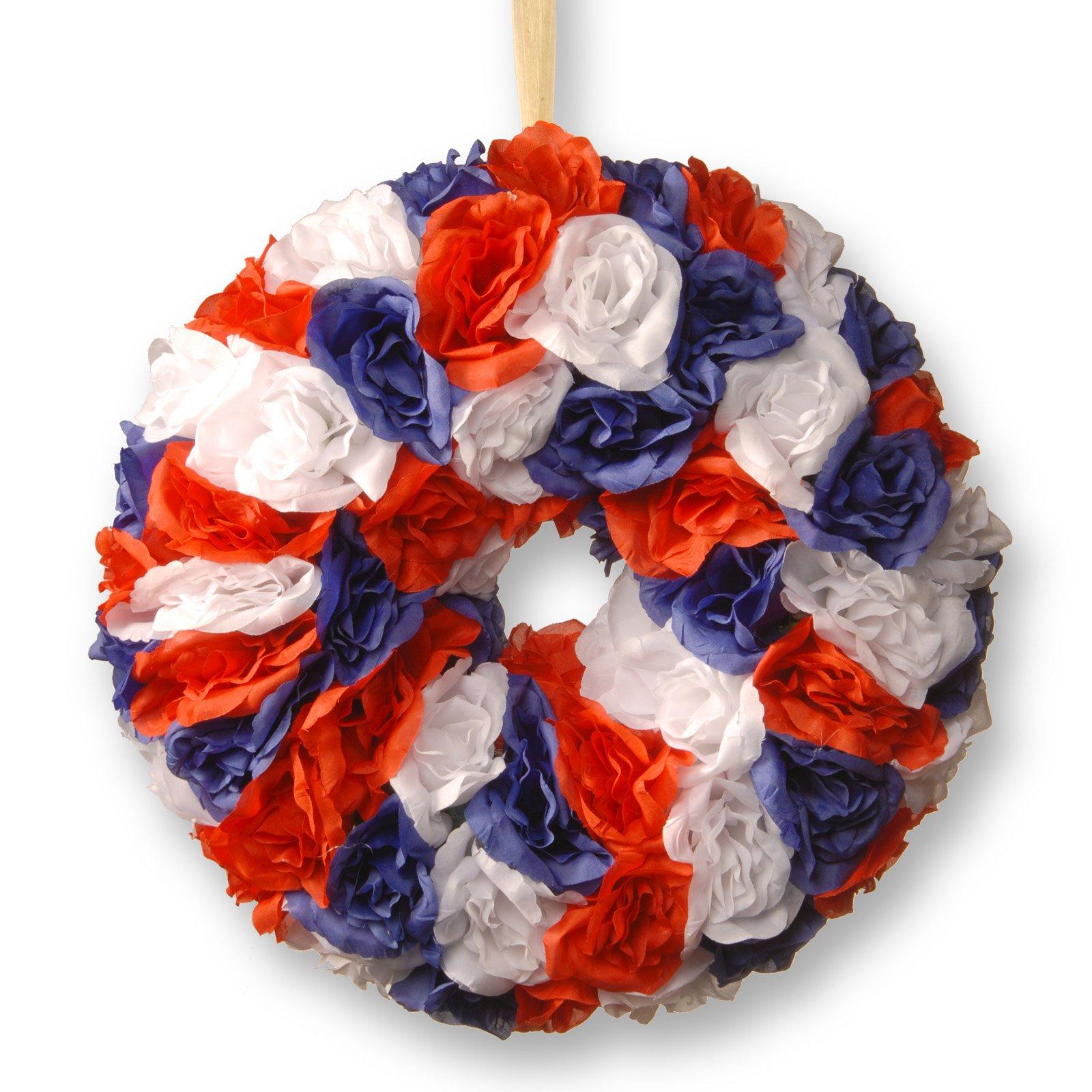 """14"""" Patriotic Rose Wreath"""
