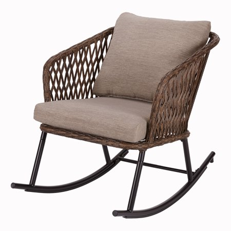 Mainstays Battle Creek Wicker Outdoor Rocking Chair ()