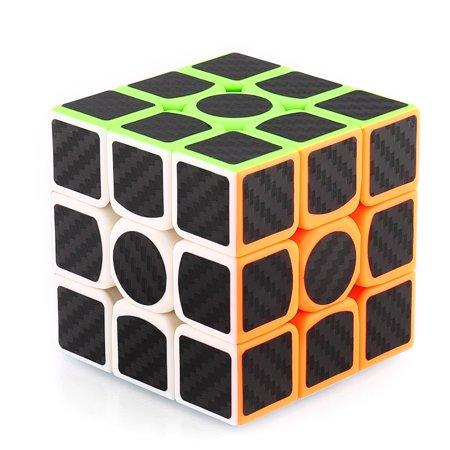 Moretek 3x3 Speed Cube Carbon Fiber Sticker Cool Magic Cube Puzzle Brain Teaser Toys](Scary Halloween Brain Teasers)