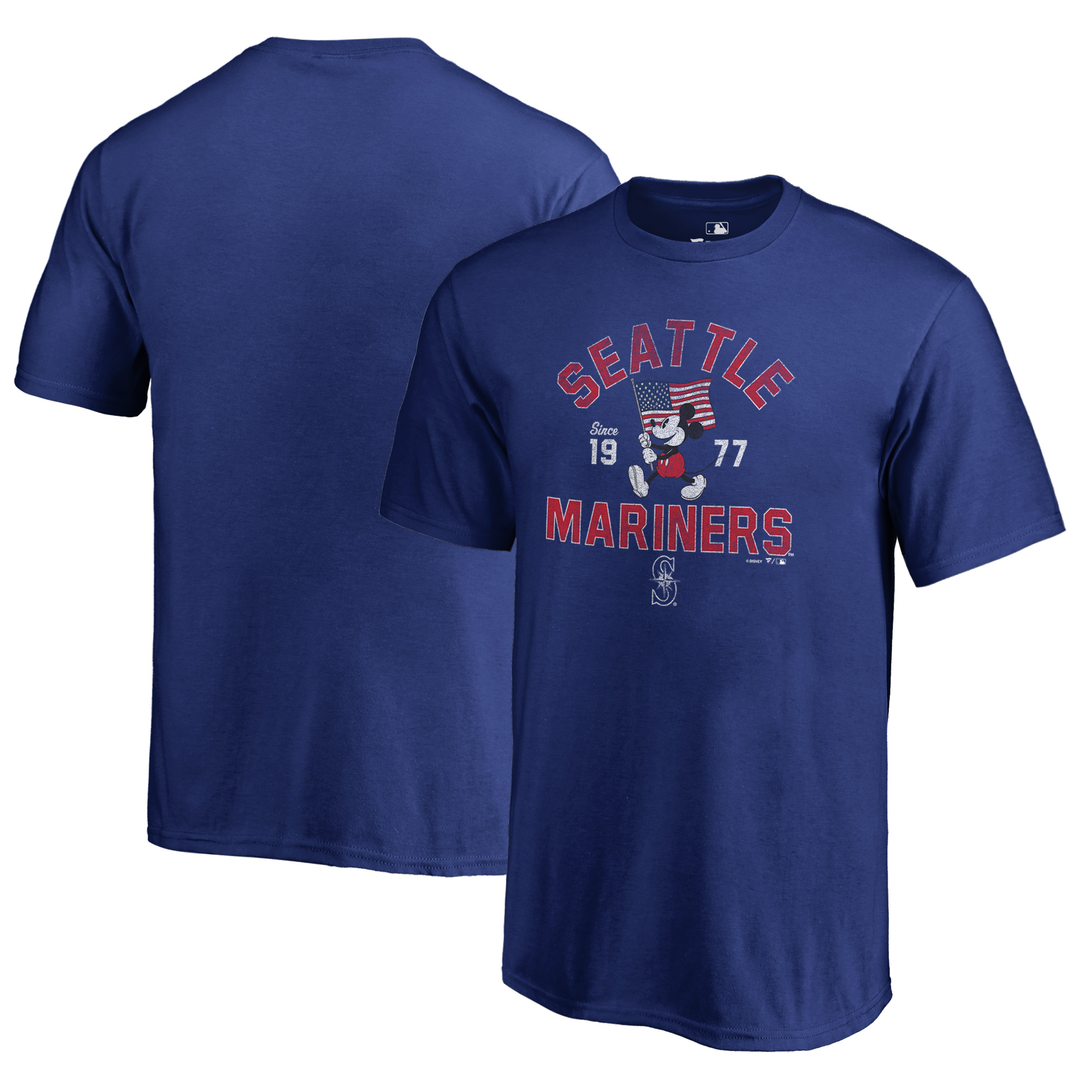 Seattle Mariners Fanatics Branded Youth Disney American Icon T-Shirt - Royal