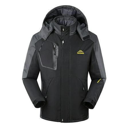 Men's Windproof Fleece Jacket Winter Outdoor Sport Waterproof Ski Jacket Coat Camping Hiking (Best Winter Running Jacket)