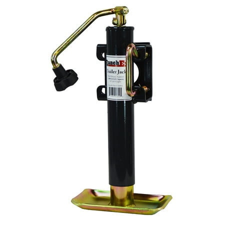 RanchEx Flange (weld) Mount Top wind Trailer Jack, 5,000 lb. Lift Capacity, 10