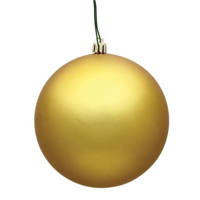 Vickerman N590768DMV 2.75 in. Gold Matte UV Treated Christmas Ornament Ball - 12 per Bag - image 1 de 1