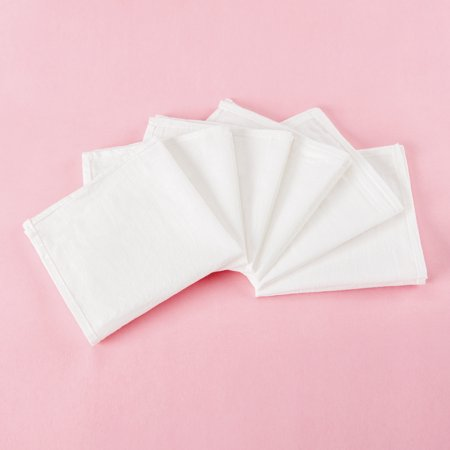 Organic Cloth Napkins, White, 100% Organic Cotton, Set Of 6, Eco-Friendly, Reusable, Sustainable, Cloth Dinner