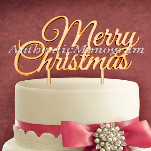 aMonogram Art Unlimited Merry Christmas Wooden Cake Topper