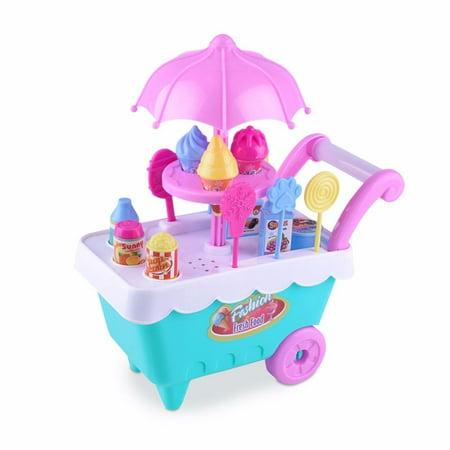 Mosunx Children Gift Ice Cream Cart Play Set Kids Pretend play Toy Food Toys Education - Kids Ice Cream Cart