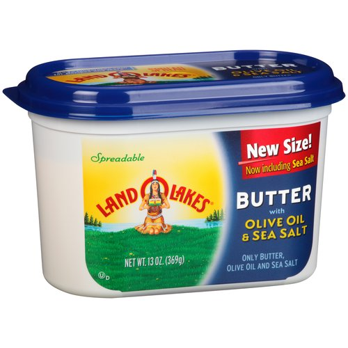 Land O Lakes Spreadable Butter with Olive Oil & Sea Salt ...