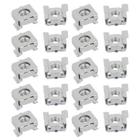 Silver Plated Server - 20pcs M5 Carbon Steel Zinc Plated Cage Nut Silver Tone for Server Shelf Cabinet
