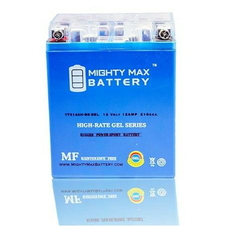 YTX14AH 12V 12AH GEL Battery For Yamaha YFM25 Bear Tracker 99 04