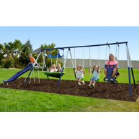 Product Image Sports Outdoor Rosemead Metal Swing Set With Roman Glider Saucer And 6ft Heavy Duty