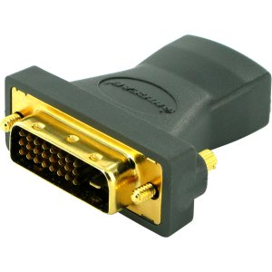IOGEAR Digital Video Adapter - 1 Pack - 1 x DVI-D (Dual-Link) Male Digital Video - 1 x HDMI Female Digital Audio/Video - Gold Plated Connector PLATED HD DIGITAL VIDEO