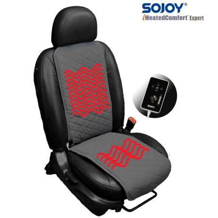 SOJOY Universal 12V Thickening Heated Car Seat Heater Cushion Warmer