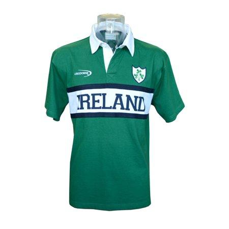Green Ireland Panel Short Sleeve Rugby Shirt