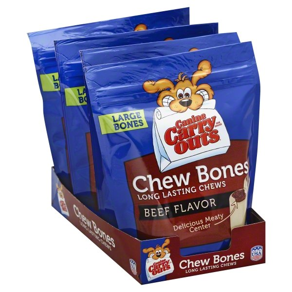 Canine Carry Outs Chew Bones Beef Flavor Dog Snacks, 14-Ounce