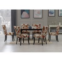 Homesvale Ruder 7 Piece Rectangular Butterfly Leaf Wood Espresso Dining Table and Chairs