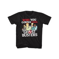 REAL GHOSTBUSTERS-CALL EM-BLACK YOUTH S/S TSHIRT-S (7-8)