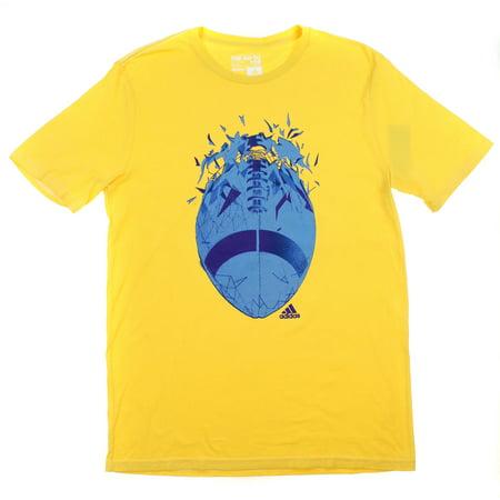 Adidas Performance Mens The Go-To Tee (Yellow Football, Medium) (Adidas Football Shirt)