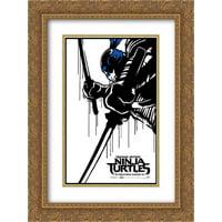 Teenage Mutant Ninja Turtles 18x24 Double Matted Gold Ornate Framed Movie Poster Art Print