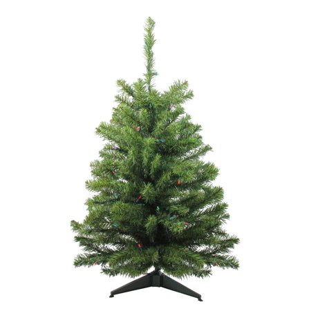 3' Battery Operated Pre-Lit LED Pine Artificial Christmas Tree - Multi  Lights - 3' Battery Operated Pre-Lit LED Pine Artificial Christmas Tree