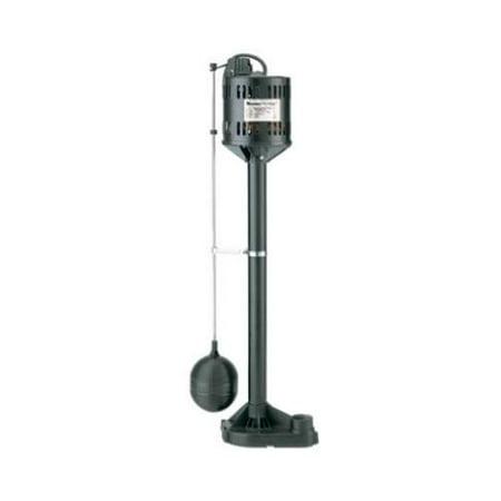 PENTAIR WATER Automatic Pedestal Sump Pump Thermoplastic 1 3 HP Motor