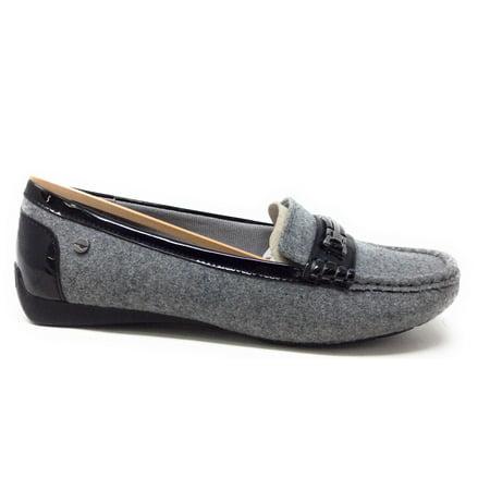 8eba86e7b15 LifeStride - LifeStride Womens Vanity Slip On Loafer Shoe Black Flannel  Faux Patent 7 Wide - Walmart.com
