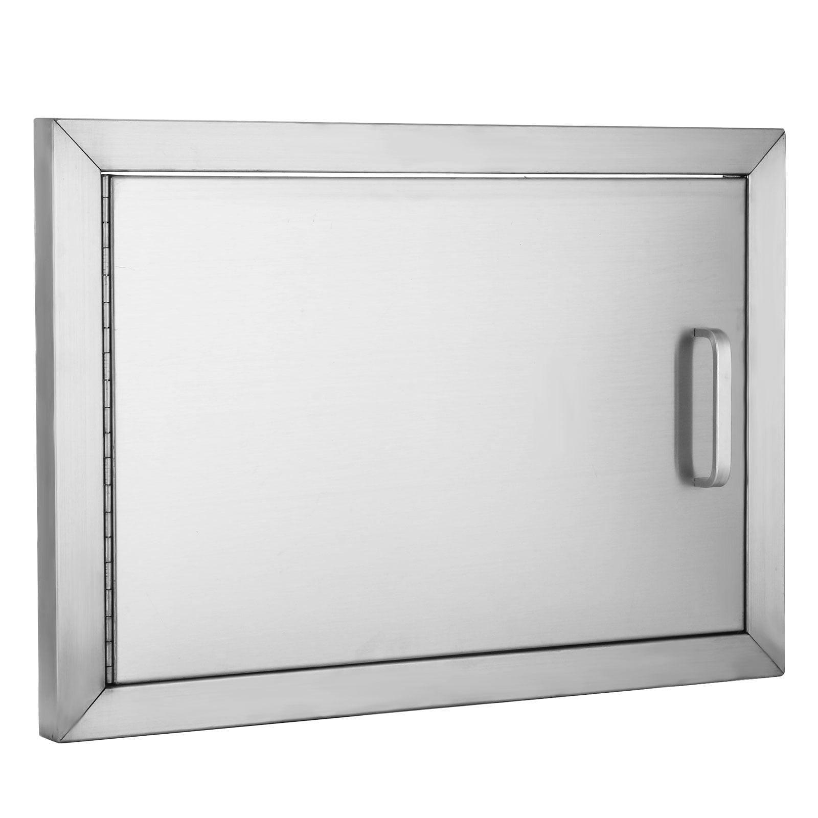 """VEVOR BBQ Access Door 304 Stainless Steel BBQ Island Door Single Horizontal Door Left-Hinged Access Door 20""""Wx 14""""H"""