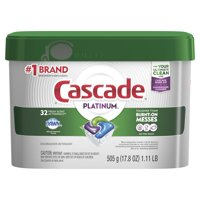 Cascade Platinum ActionPacs, Dishwasher Detergent, Fresh Scent, 32 count