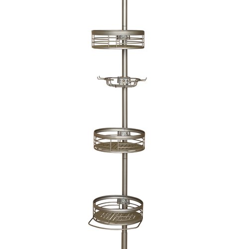 Chapter 3-Shelf Tension Pole Caddy, Satin Nickel