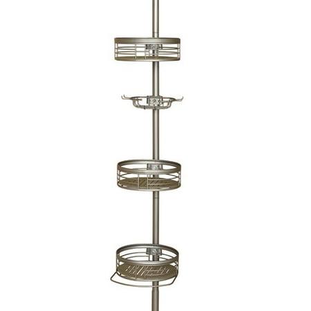 Zenith 3 Shelf Tension Pole Caddy  Satin Nickel