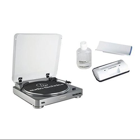 Audio Technica AT-LP60USB Fully Automatic Belt Driven Turntable with USB Port bundled with the AT-6012 record cleaner ki ()