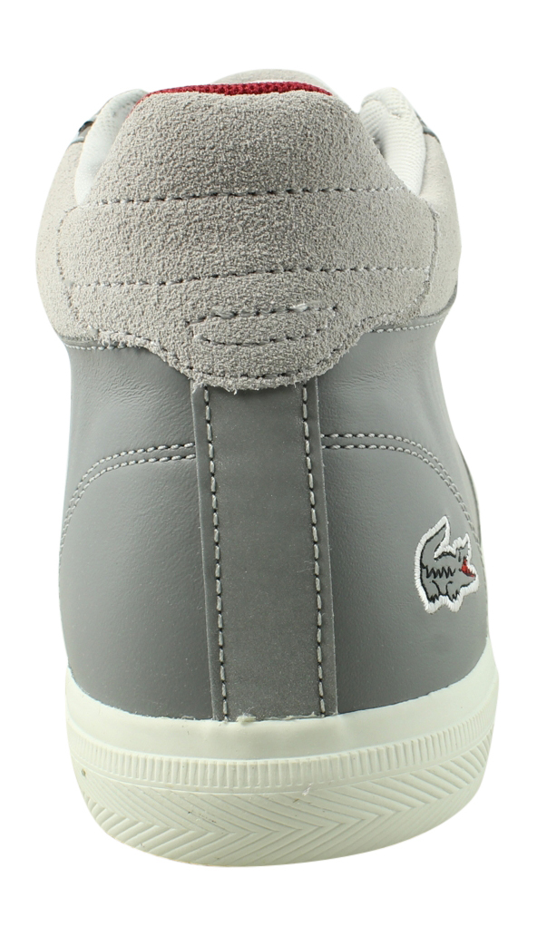 New Lacoste Mens Fairlead Gray Fashion Shoes Size 7.5