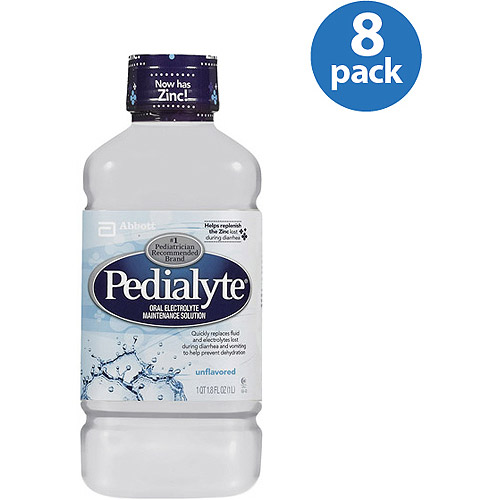 Pedialyte Unflavored, 1-L bottle, (Pack of 8)