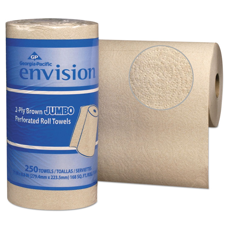 PACIFIC BLUE BASIC PERFORATED PAPER TOWEL, 11 X 8 4/5, BROWN, 250/ROLL, 12 RL/CT