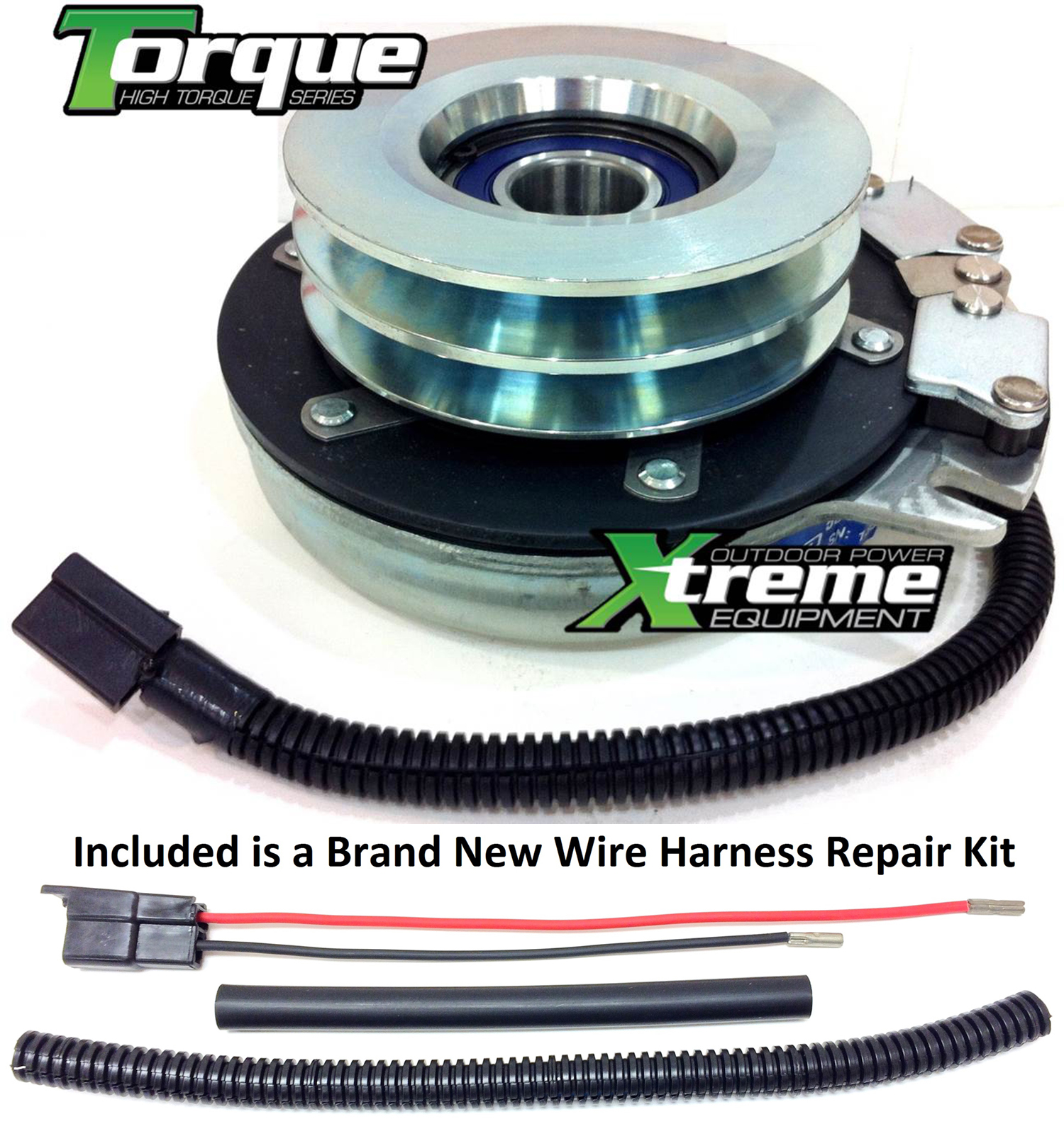 Bundle - 2 items: PTO Electric Blade Clutch, Wire Harness Repair Kit.  Replaces Warner 5219-10 521910 Woods PTO Clutch - w/ Wire Harness Repair Kit  !